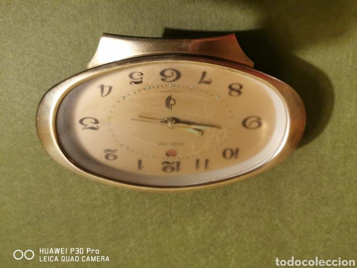 Despertadores antiguos: reloj despertador golden tone - Foto 3 - 192492241