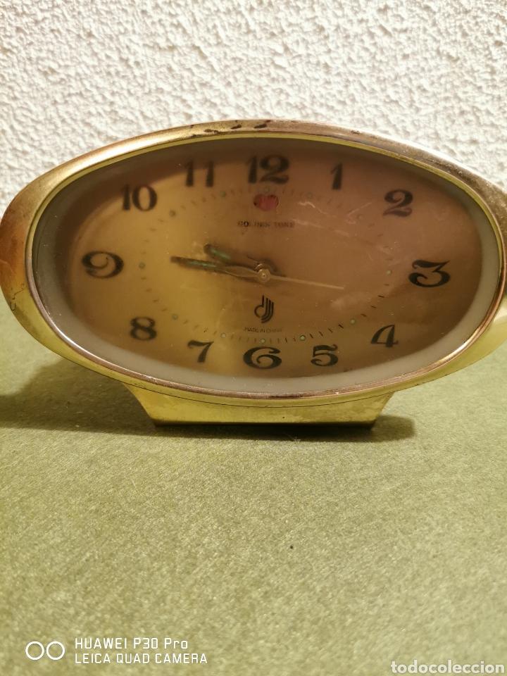 RELOJ DESPERTADOR GOLDEN TONE (Relojes - Relojes Despertadores)