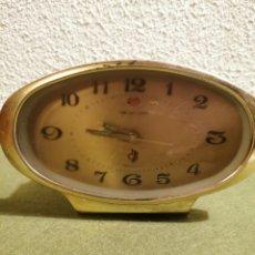 Despertadores antiguos: RELOJ DESPERTADOR GOLDEN TONE. Lote 192492241