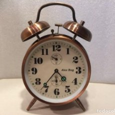 Despertadores antiguos: RELOJ DESPERTADOR - ALEX BOG - FUNCIONANDO. Lote 192589922
