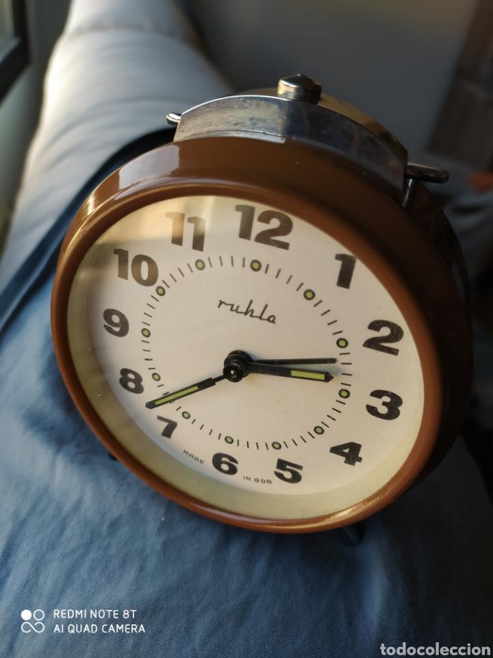 Despertadores antiguos: Antiguo reloj despertador Ruhla DDR - Foto 5 - 192783297