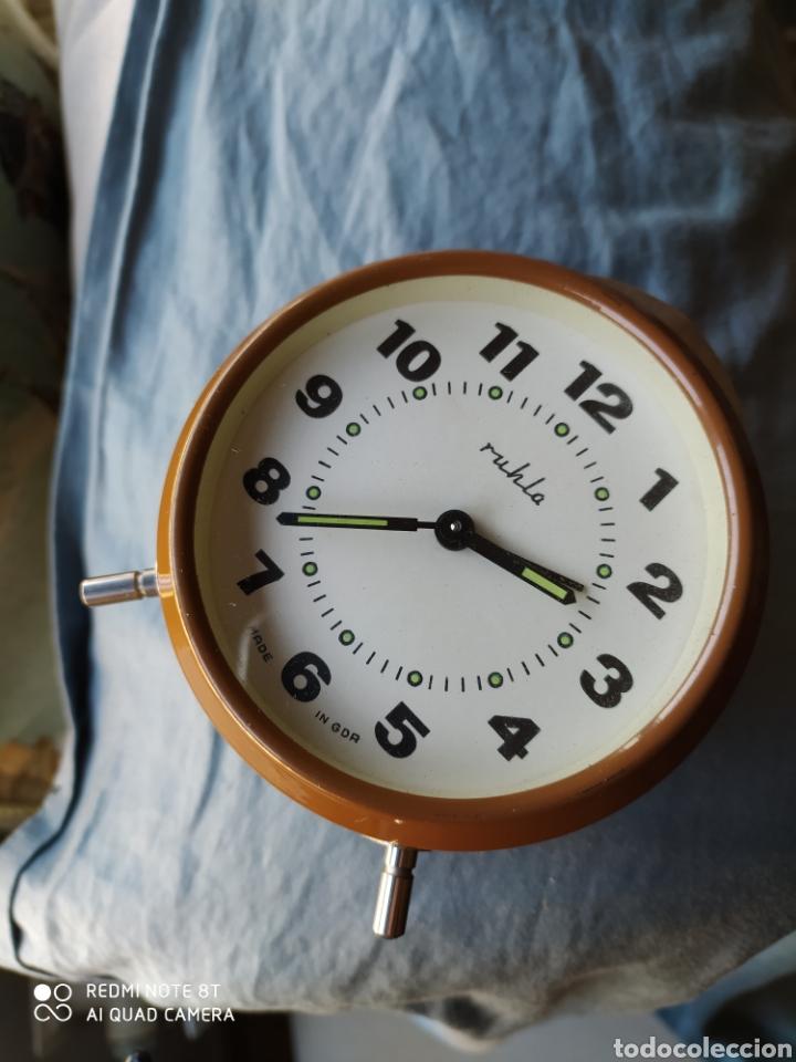 ANTIGUO RELOJ DESPERTADOR RUHLA DDR (Relojes - Relojes Despertadores)