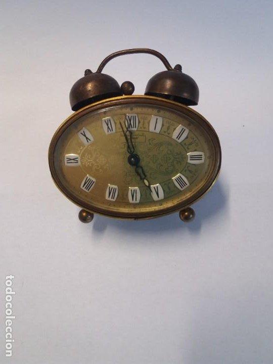 PRECIOSO RELOJ DE SOBREMESA ALEMAN AÑOS 50 (Relojes - Relojes Despertadores)