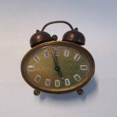 Despertadores antiguos: PRECIOSO RELOJ DE SOBREMESA ALEMAN AÑOS 50. Lote 192933545