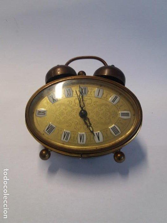 Despertadores antiguos: PRECIOSO RELOJ DE SOBREMESA ALEMAN AÑOS 50 - Foto 2 - 192933545