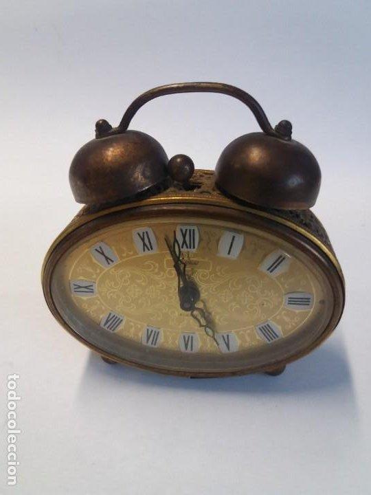 Despertadores antiguos: PRECIOSO RELOJ DE SOBREMESA ALEMAN AÑOS 50 - Foto 3 - 192933545