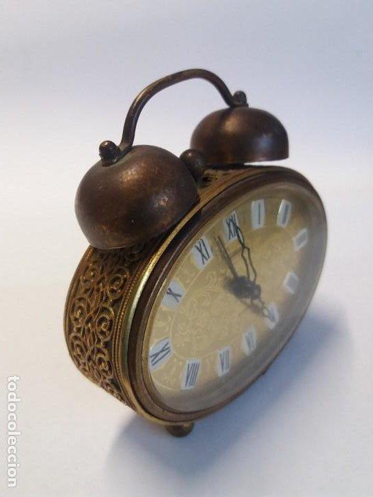 Despertadores antiguos: PRECIOSO RELOJ DE SOBREMESA ALEMAN AÑOS 50 - Foto 12 - 192933545