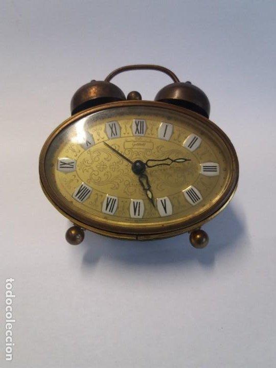 Despertadores antiguos: PRECIOSO RELOJ DE SOBREMESA ALEMAN AÑOS 50 - Foto 13 - 192933545
