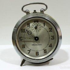 Despertadores antiguos: RELOJ DESPERTADOR OBAYARDO. FUNCIONANDO. . Lote 193641947