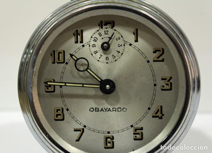 Despertadores antiguos: Reloj despertador OBAYARDO. FUNCIONANDO. - Foto 2 - 193641947