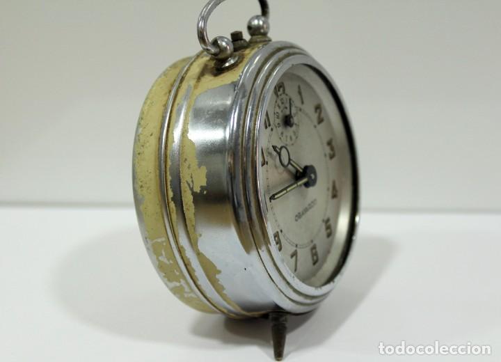 Despertadores antiguos: Reloj despertador OBAYARDO. FUNCIONANDO. - Foto 3 - 193641947