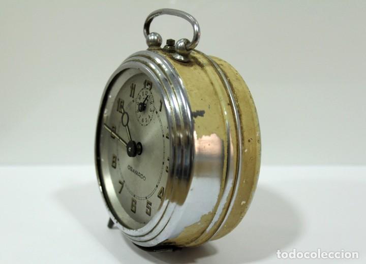 Despertadores antiguos: Reloj despertador OBAYARDO. FUNCIONANDO. - Foto 4 - 193641947