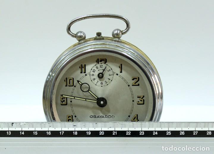 Despertadores antiguos: Reloj despertador OBAYARDO. FUNCIONANDO. - Foto 7 - 193641947