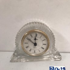 Despertadores antiguos: RELOJ DE CRISTAL. Lote 194186101