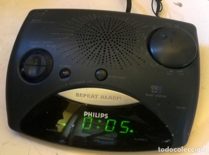 Despertadores antiguos: RELOJ DESPERTADOR RADIO PHILIPS AJ 3290 - FUNCIONADO PERFECTAMENTE - CV - Foto 2 - 194211221