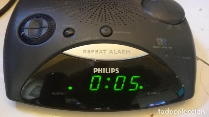 RELOJ DESPERTADOR RADIO PHILIPS AJ 3290 - FUNCIONADO PERFECTAMENTE - CV (Relojes - Relojes Despertadores)