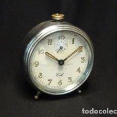 Despertadores antiguos: RELOJ DESPERTADOR. ASTORGA.LEON. MARCA CID, FUNCIONA. Lote 194311933