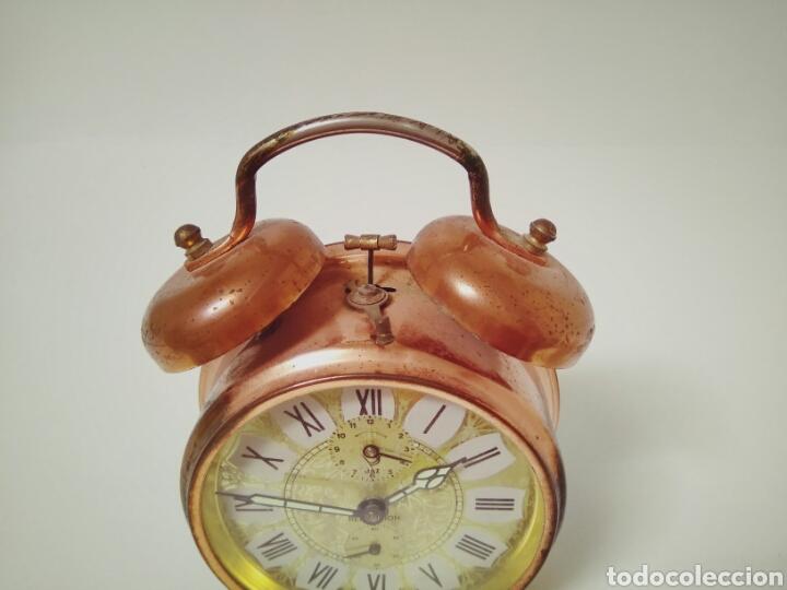Despertadores antiguos: DESPERTADOR FUNCIONANDO DE LOS AÑOS 50 JAZZ REPETITION FABRICADO EN FRANCIA AAA - Foto 3 - 194339981