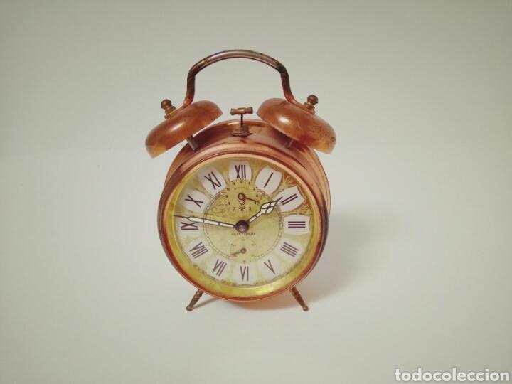 Despertadores antiguos: DESPERTADOR FUNCIONANDO DE LOS AÑOS 50 JAZZ REPETITION FABRICADO EN FRANCIA AAA - Foto 5 - 194339981