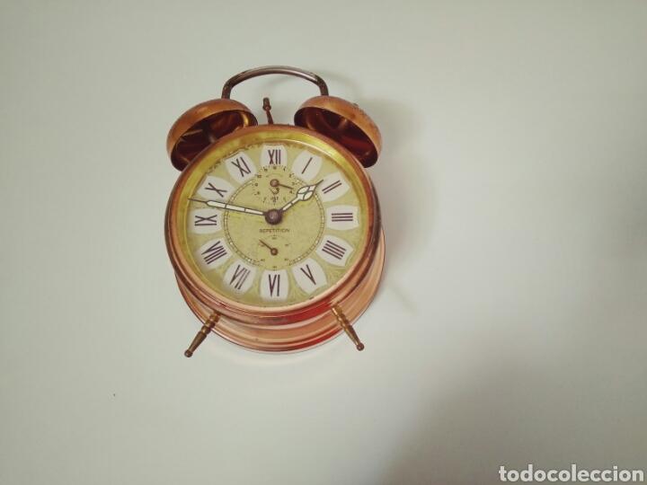 Despertadores antiguos: DESPERTADOR FUNCIONANDO DE LOS AÑOS 50 JAZZ REPETITION FABRICADO EN FRANCIA AAA - Foto 6 - 194339981
