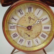 Despertadores antiguos: DESPERTADOR FUNCIONANDO DE LOS AÑOS 50 JAZZ REPETITION FABRICADO EN FRANCIA. Lote 194339981