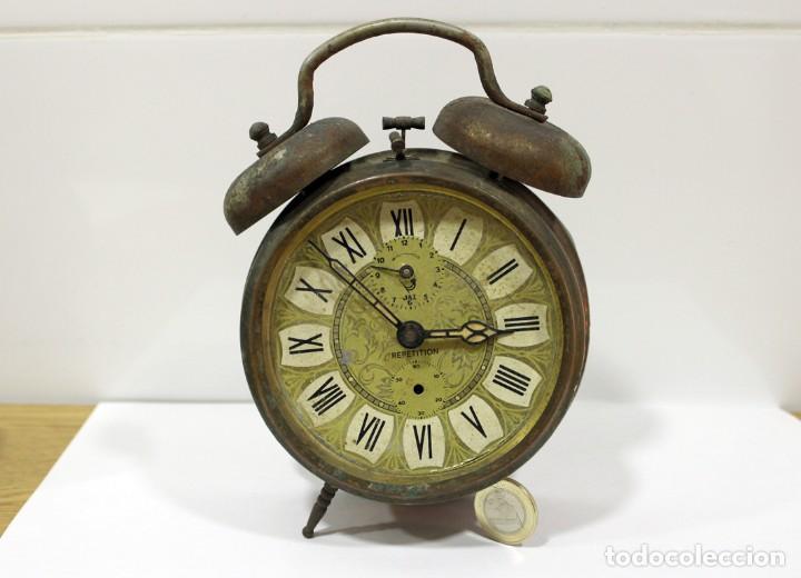 RELOJ DESPERTADOR JAZ REPETICIÓN. FUNCIONANDO PERFECTAMENTE. (Relojes - Relojes Despertadores)