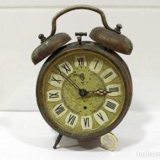 Despertadores antiguos: RELOJ DESPERTADOR JAZ REPETICIÓN. FUNCIONANDO PERFECTAMENTE.. Lote 194488581
