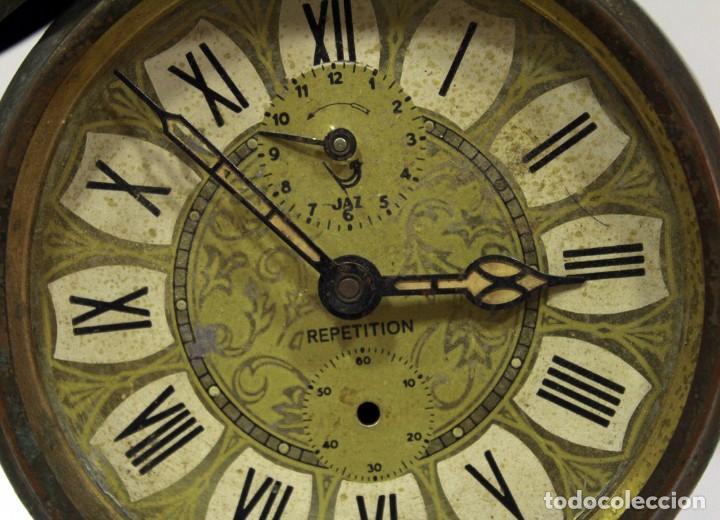 Despertadores antiguos: Reloj despertador JAZ REPETICIÓN. FUNCIONANDO PERFECTAMENTE. - Foto 2 - 194488581
