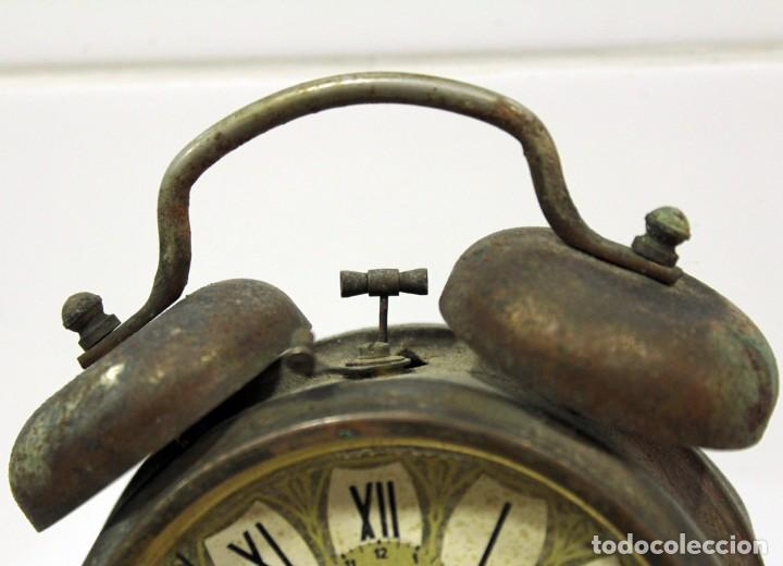 Despertadores antiguos: Reloj despertador JAZ REPETICIÓN. FUNCIONANDO PERFECTAMENTE. - Foto 3 - 194488581