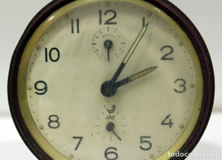 Despertadores antiguos: Reloj despertador JAZ. FUNCIONANDO PERFECTO. - Foto 2 - 194490043