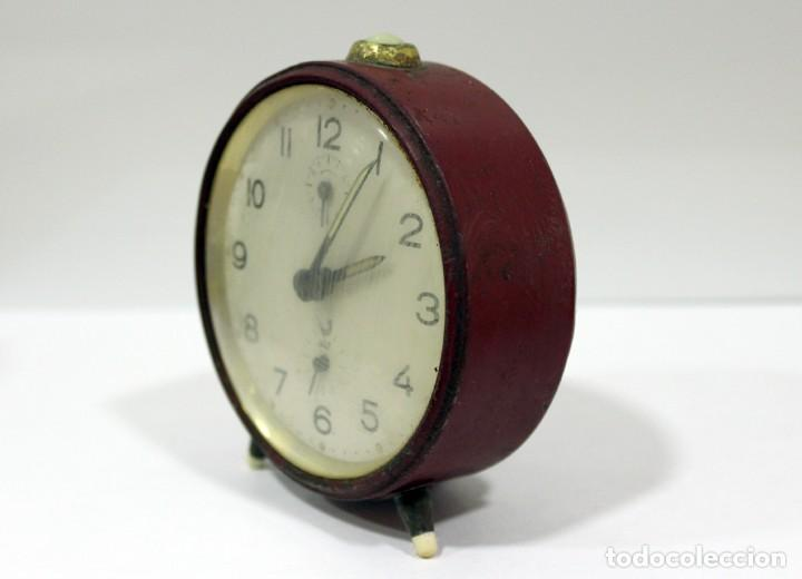 Despertadores antiguos: Reloj despertador JAZ. FUNCIONANDO PERFECTO. - Foto 3 - 194490043
