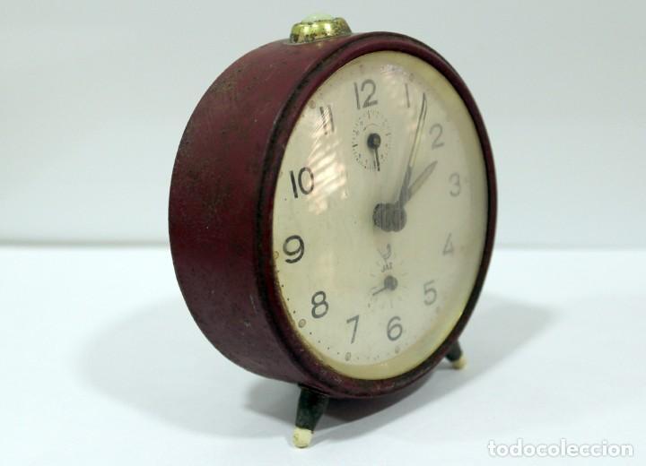 Despertadores antiguos: Reloj despertador JAZ. FUNCIONANDO PERFECTO. - Foto 4 - 194490043