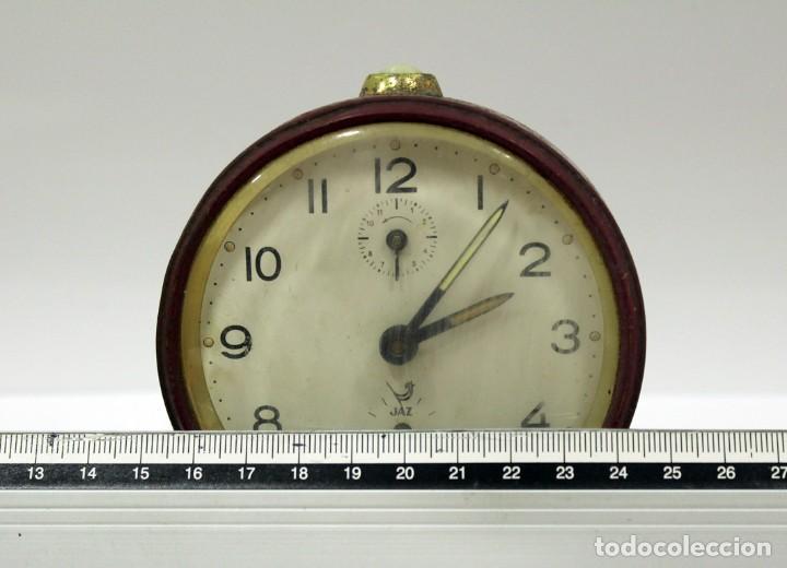 Despertadores antiguos: Reloj despertador JAZ. FUNCIONANDO PERFECTO. - Foto 7 - 194490043