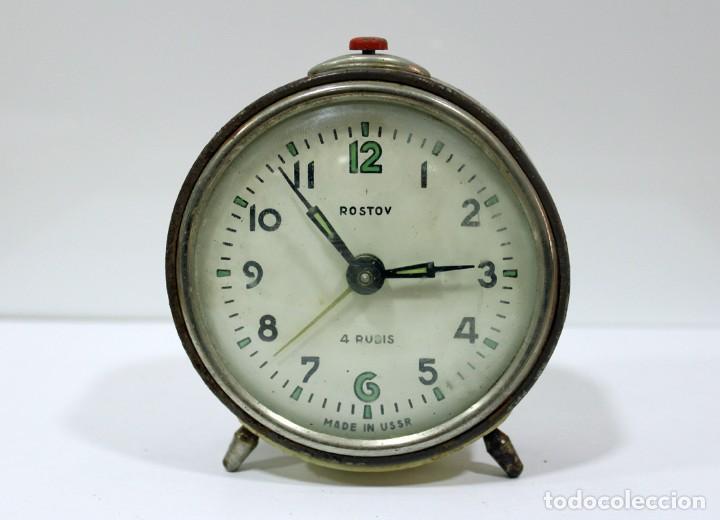 RELOJ DESPERTADOR ROSTOV - MADE IN USSR. NO FUNCUIONA. (Relojes - Relojes Despertadores)