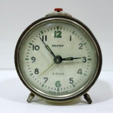 Despertadores antiguos: RELOJ DESPERTADOR ROSTOV - MADE IN USSR. NO FUNCUIONA.. Lote 194492582
