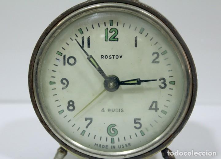 Despertadores antiguos: Reloj despertador ROSTOV - MADE IN USSR. NO FUNCUIONA. - Foto 2 - 194492582