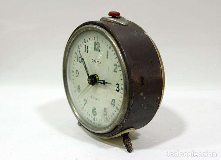 Despertadores antiguos: Reloj despertador ROSTOV - MADE IN USSR. NO FUNCUIONA. - Foto 3 - 194492582