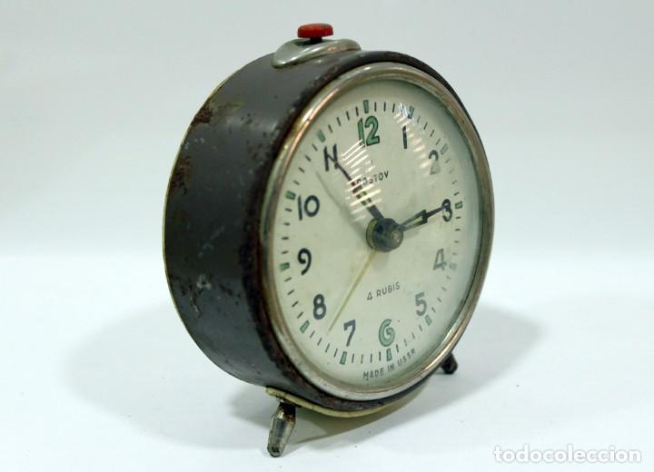 Despertadores antiguos: Reloj despertador ROSTOV - MADE IN USSR. NO FUNCUIONA. - Foto 4 - 194492582