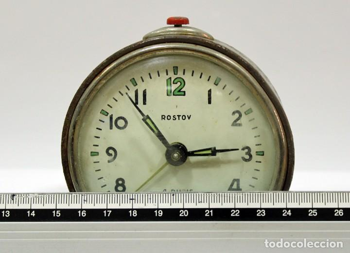 Despertadores antiguos: Reloj despertador ROSTOV - MADE IN USSR. NO FUNCUIONA. - Foto 7 - 194492582