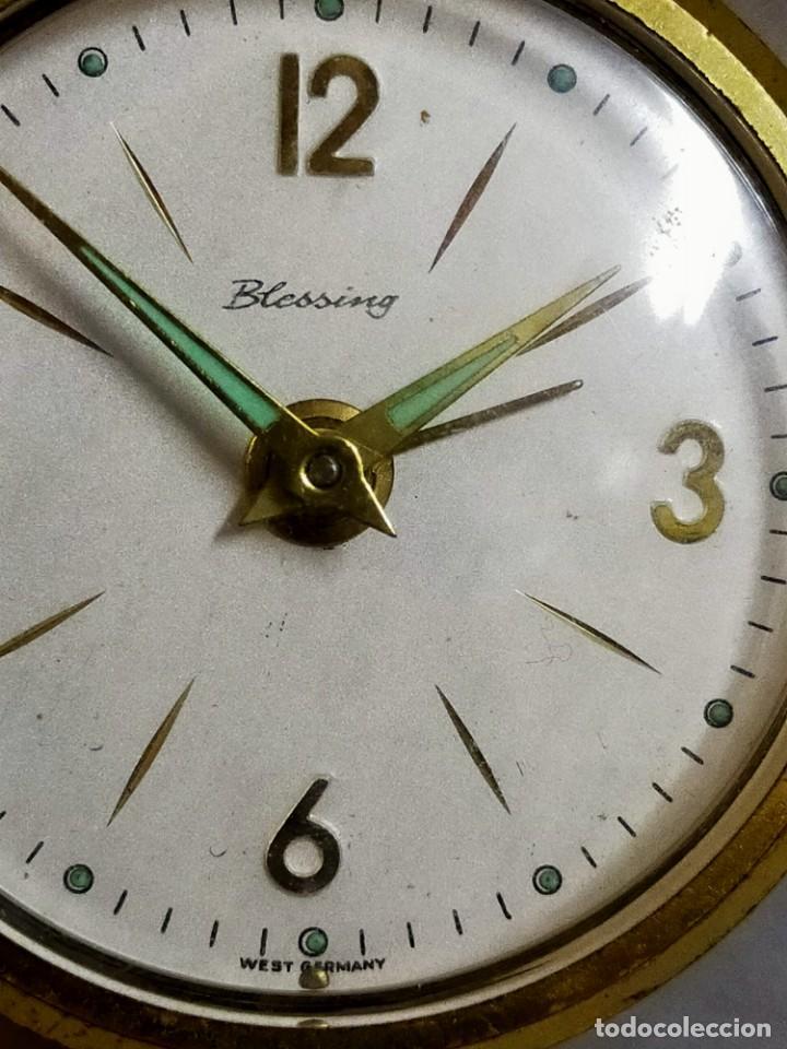 Despertadores antiguos: RELOJ DESPERTADOR BLESSING, WEST GERMANY, CARGA MANUAL, FUNCIONANDO - Foto 6 - 194508547