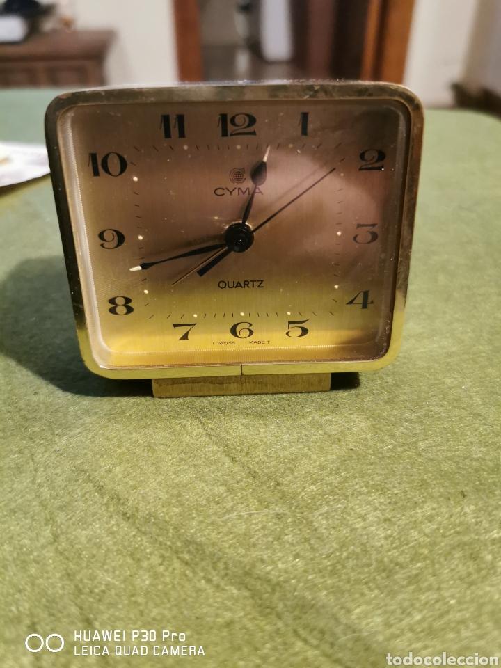 RELOJ DESPERTADOR CYMA DE COLOR DORADO (Relojes - Relojes Despertadores)