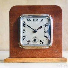 Despertadores antiguos: ANTIGUO RELOJ DESPERTADOR FRANCES MARCA BAYARD EN CAJA DE MADERA VINTAGE ART DECO FRENCH ALARM CLOCK. Lote 194675430