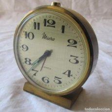 Despertadores antiguos: RELOJ DESPERTADOR MICRO FUNCIONANDO ALARMA Y RELOJ. Lote 194965856