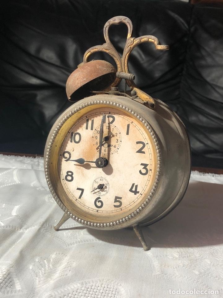 RELOJ DESPIERTADOR KIENZLE DOS CAMPANAS PARA DESPIECE O RESTAURAR (Relojes - Relojes Despertadores)