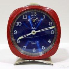Despertadores antiguos: RELOJ ZAFIRO - RELOJERÍA DURÁ DE ONDARA. . Lote 195210425
