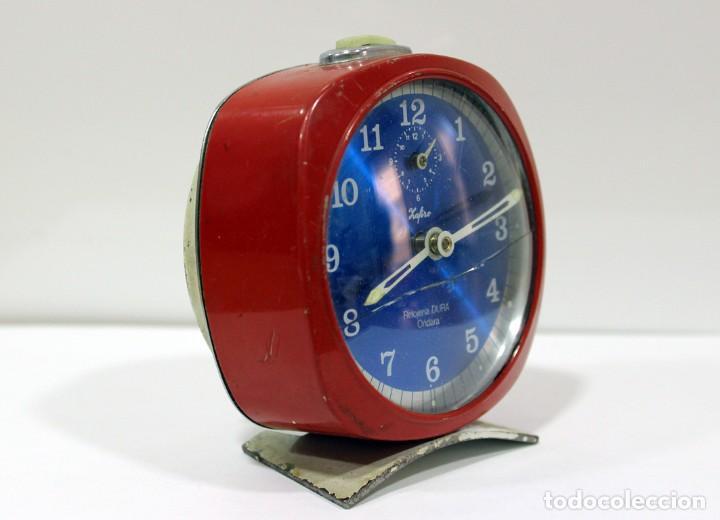Despertadores antiguos: Reloj ZAFIRO - RELOJERÍA DURÁ DE ONDARA. - Foto 3 - 195210425