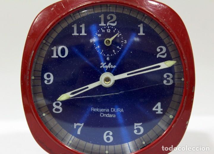 Despertadores antiguos: Reloj ZAFIRO - RELOJERÍA DURÁ DE ONDARA. - Foto 4 - 195210425