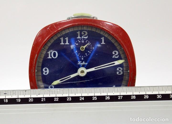 Despertadores antiguos: Reloj ZAFIRO - RELOJERÍA DURÁ DE ONDARA. - Foto 7 - 195210425
