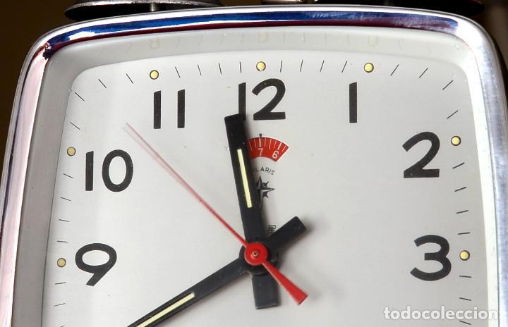 Despertadores antiguos: DESPERTADOR CHINO A CUERDA POLARIS, DOS CAMPANAS, AÑOS 70 - Foto 3 - 195268517