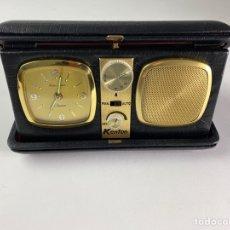 Despertadores antiguos: RADIO RELOJ DESPERTADOR KENTON. AÑOS 60.. Lote 195375678